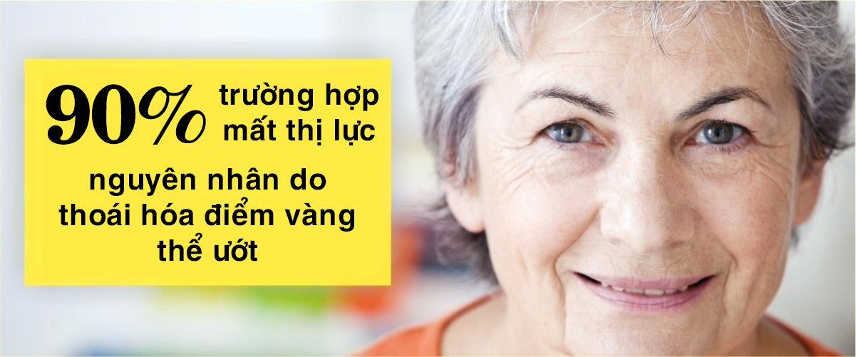 Thoái hóa hoàng điểm do tuổi già gây giảm thị lực ở người trên 60 tuổi